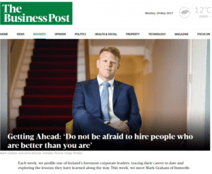 Mark Graham's interview in The Business Post